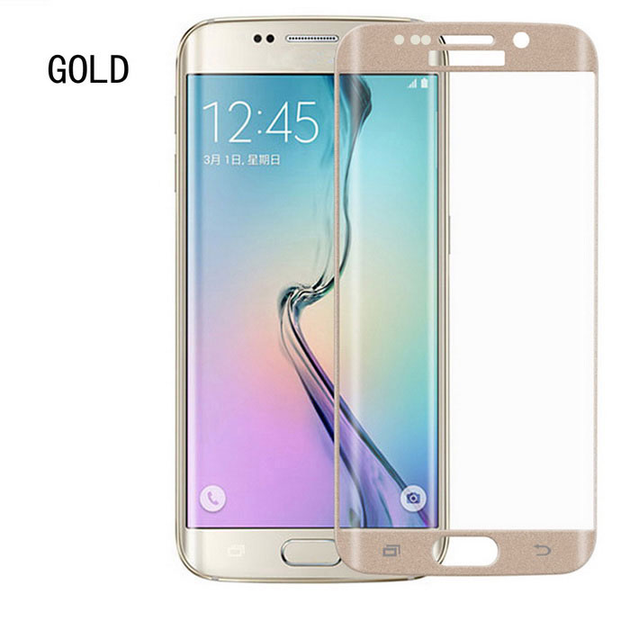 ASLING 0.2mm Tempered Glass Film for Samsung S6 Edge Plus - Golden