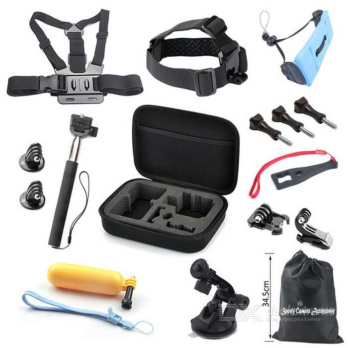 16-in-1 Outdoor Sports Camera Accessories Kit for GoPro Hero - Black