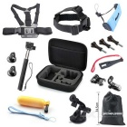 16-in-1 Hot Outdoor Sports Camera Accessories Kit for GoPro Hero1 / 2 / 3 / 3+ / 4 - Black