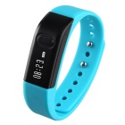 "I5S 0.49"" OLED Bluetooth V4.0 Smart Watch Wristband Bracelet w/ Sports / Sleep Tracking - Lake Blue"