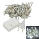 JIAWEN 4W 100-LED 8-Mode White Light Christmas Decoration String Lights (EU Plug, AC 220V, 10m)