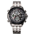 Bestdon Men's Stainless Steel Band Waterproof Analog-Digital Display Sport Quartz Watch - Black