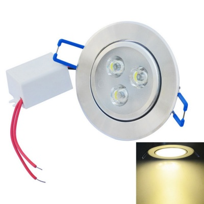 JIAWEN 3W LED Ceiling Light Spotlight Warm White 3200K 300lm - Silver