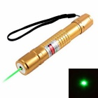KF-681 5mW 532nm Green Laser Pointer - Golden (1 x 18650)
