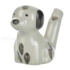 Ceramic Spotty Dog Style Whistling Fun Toy Water Injection Birdcalls Whistle for Kid - Beige + Black