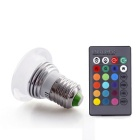 E27 3W RGB LED 16-Color RC bombilla cambiante - blanco (85 - 265V)