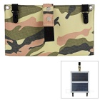 20W 5V 1A 2-Platte Solar Power Panel - Weiß + Camouflage + Light Grey