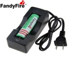 FandyFire US Plugss Battery Charger + 2000mAh 18650 Rechargeable Battery