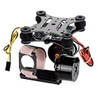 Adjustment-Free 2D 2-Axis Brushless Camera Mount Gimbal for Xiaomi Xiaoyi - Black