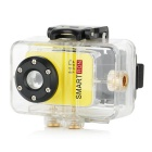 Smartron Super Mini 720P HD Waterproof Action Sport Digital Video Camera - Light Yellow