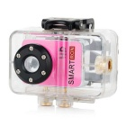Smartron Super Mini 720P HD Waterproof Action Sport Digital Video Camera - Pink