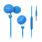 MOSIDUN 3.5mm Plug Super Sereo Bass Noise Isolating In-Ear Earphone w/ Mic - Light Blue