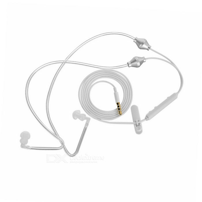 Anti-radiation 3.5mm Wired In-Ear Air Conduit Earphones w/ Mic