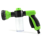 High Pressure Cleaning Car Wash Foam Water Gun w/ Switch - Green+Black