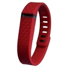 3D Texture Replacement TPE + TPU Wristband for Fitbit Flex Smart Bracelet - Red (161~209cm)