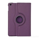 Litchi Pattern Protective Flip-Open PU Leather Case w/ Rotary Stand for IPAD MINI 4 - Purple
