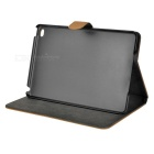 Protective Denim + PU Case w/ Stand for IPAD MINI 4 - Brown