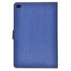 Protective Denim + PU Case w/ Stand for IPAD MINI 4 - Blue + Brown