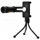 Universal 4-in-1 Telephoto + Fish Eye + Wide Angle + Macro Camera Lens Kit w/ Tripod for Cell Phones