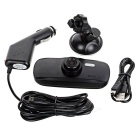 "2.7"" 140' 3.0MP Car DVR w/ Motion Detection, Loop Record, Mic. - Black"