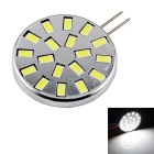 G4 6W 480lm 6000K 18-5730 SMD LED White Light Constant Aluminum Corn Bulb - Silver + Black (10~30V)