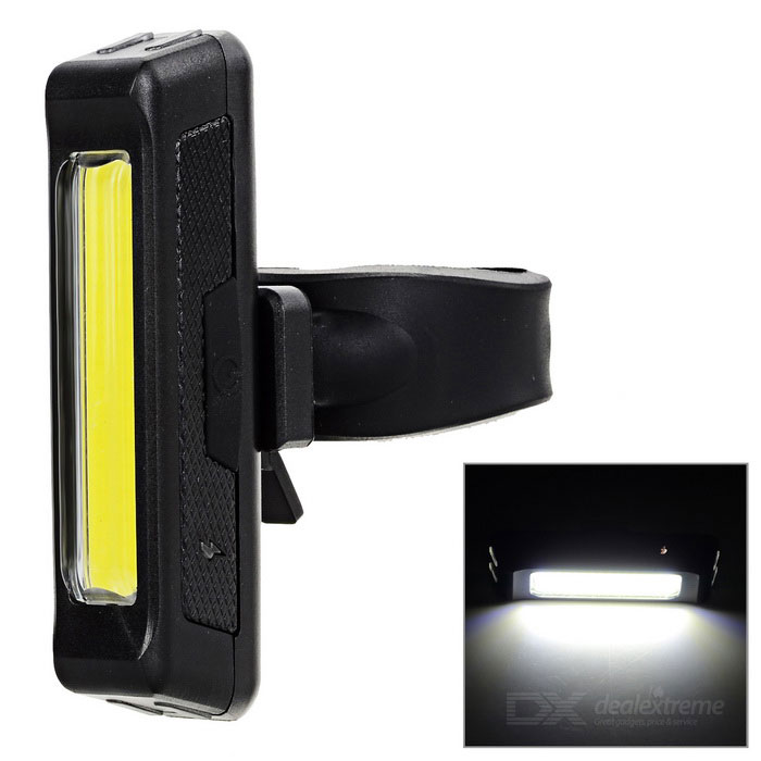 USB Rechargeable 1-LED 60lm 6-Mode White Bike Light Lamp - BlackBike Light<br>Form ColorBlack + Fluorescent YellowQuantity1 DX.PCM.Model.AttributeModel.UnitMaterialABSEmitter BrandOthers,N/ALED TypeOthers,N/AEmitter BINLEDColor BINNeutral WhiteNumber of Emitters1Input Voltage3.7 DX.PCM.Model.AttributeModel.UnitBatteryLithium polymer battery / 3.7V / 500mAhBattery included or notYesTheoretical Lumens80 DX.PCM.Model.AttributeModel.UnitActual Lumens60 DX.PCM.Model.AttributeModel.UnitNumber of Modes6Mode ArrangementHi,Mid,Low,Slow Strobe,Fast Strobe,SOSMode MemoryNoSwitch TypeReverse clickySwitch LocationSideBeam Range10 DX.PCM.Model.AttributeModel.UnitStrap/ClipClip includedApplicationBody,Seat Post,Handle Bar,SpokePacking List1 x Bike light1 x USB cable (76+/-2cm)1 x Fixed band1 x English user manual<br>