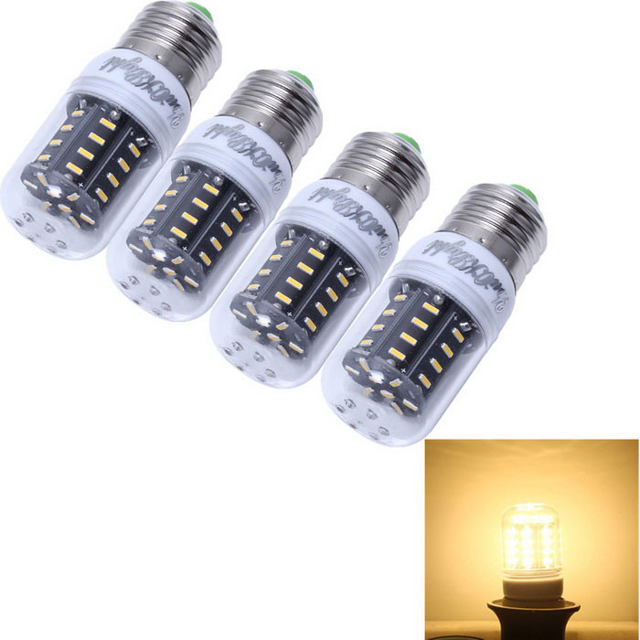 YouOKLight E27 5W 36-SMD 3000K 500lm Warm White LED Corn Bulb (4PCS)