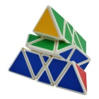 YJ0120 3-Layer Special Pyramid Magic Cube Puzzle Toy - Green + Blue