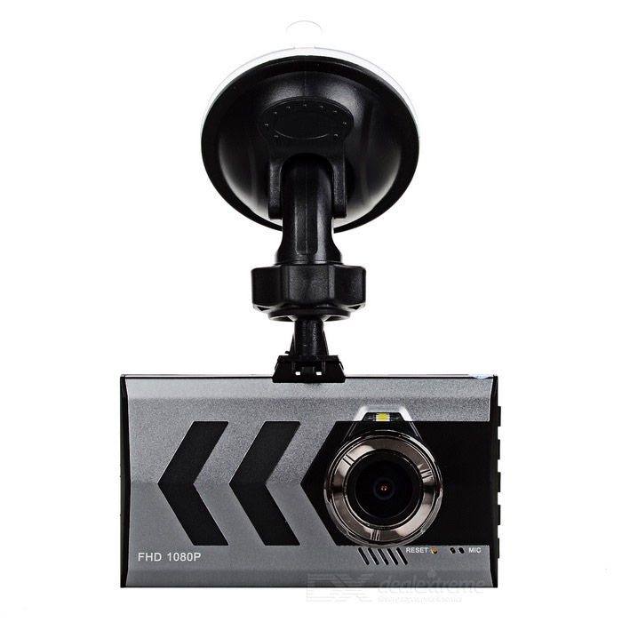 "3"" TFT CMOS 140' Wide-Angle 3MP Car DVR Camcorder - Silver Grey + Red"