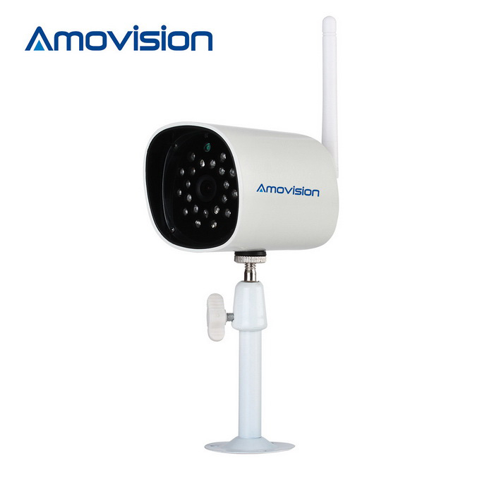 Amovision 1.0MP 720P CMOS 3.6mm Network IP Camera - White (US Plugs)