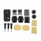 Curved / Flat Adhesive + Clip Mount GoPro Accessories Kit for GoPro