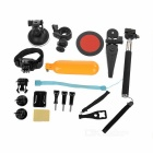 M Size Bag + Car Pole Monopod Bike Wrist Tripod Mount Travel Kit for GoPro Hero 4 / 3+ / 3 / 2