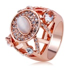 Xinguang Hollowed Crystal Ring - Rose Gold (US Size 8)