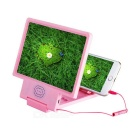 "Universal Portable ABS Screen Magnifier for 5""~8"" Cellphone - Pink"