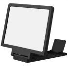 Universal Portable Foldable Screen Magnifier for Cellphone - Black