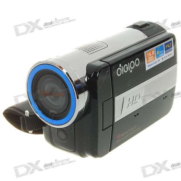 "DIGIPO HDV-P808 3.0"" 5.0 Mega Pixels 4X Zoom Digital Video Camera (SD Card Slot)"