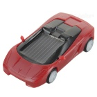 7 x 3.3 x 1.7cm Solar Powered Toy Car - Red