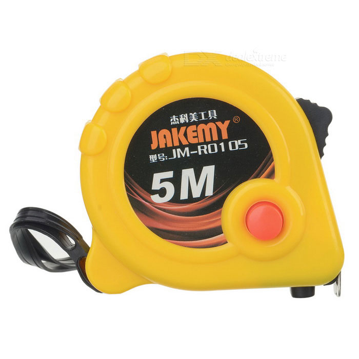 JAKEMY JM-RO105 Stainless Steel Tape Measure - Yellow (5m)