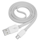 Cwxuan Flat Micro USB / USB 2.0 Charging Cable - Grey + White (1m)