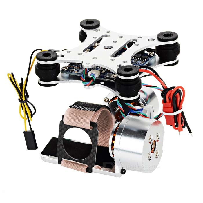 Adjustment-Free Camera Mount Gimbal for Xiaomi Xiaoyi - SilverOther Accessories for R/C Toys<br>Form ColorSilver + MulticoloredMaterialCarbon fiber + aluminum alloyQuantity1 DX.PCM.Model.AttributeModel.UnitCompatible ModelXiaoyiPacking List1 x Gimbal1 x Power cable1 x Control line (18cm)1 x Cable tie for camera1 x Chinese user manual4 x Screws<br>