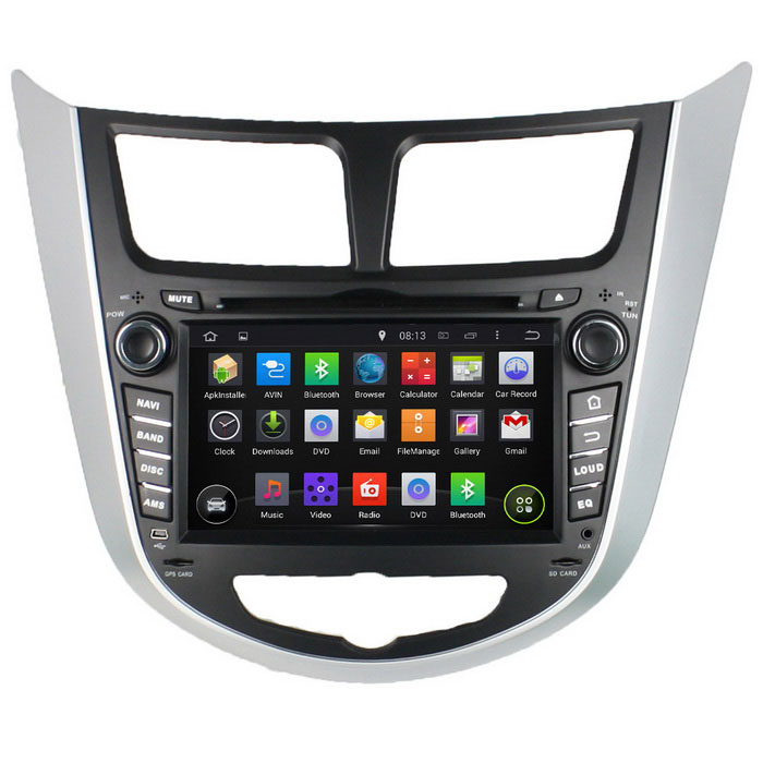 "LsqSTAR 7"" HD Android 4.4 Car DVD Player w/ GPS WiFi SWC Mirrorlink For Hyundai Verna Accent Solaris"