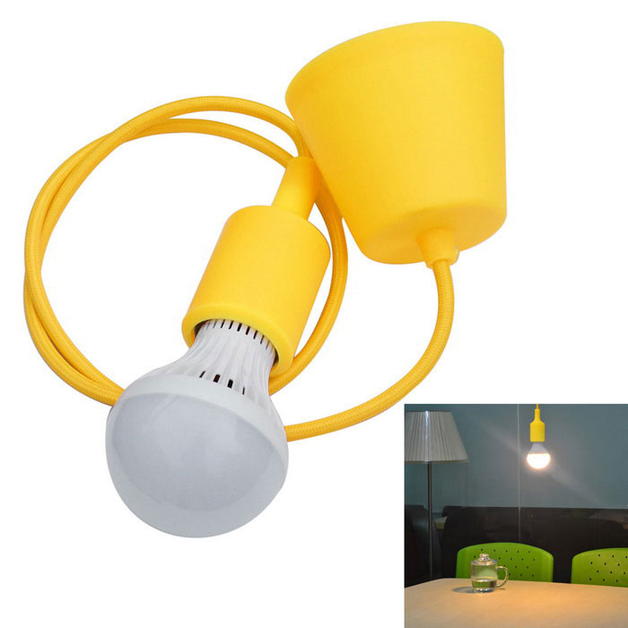 JIAWEN E27 7W LED Droplight 3200K 560lm 14-5730SMD Warm White / Lamp Base - Yellow (AC 85~265V)