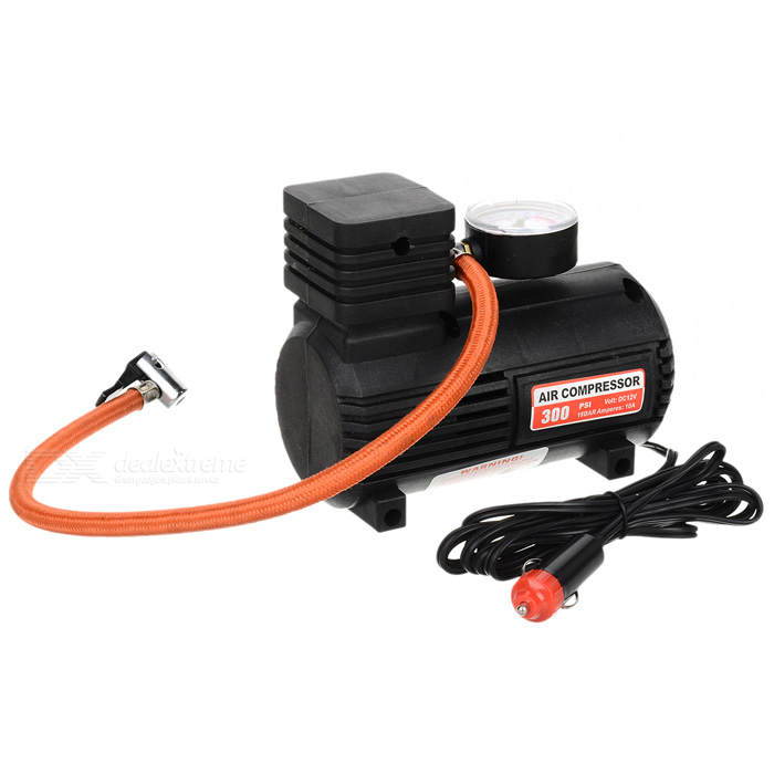 Portable Mini Auto Air Compressor with Car Charger (DC 12V/10~250PSI)