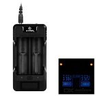 "Xtar VP2 Two-slot High Voltage Real-time Display Li-ion / LifePo4 Batteries Charger w/ 1.3"" Screen"