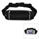 Multifunctional Outdoor Adjustable Waterproof Cellphone Touch Screen Waist Bag - Black (2L)