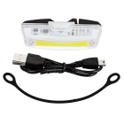USB Rechargeable 1-LED 6-Mode White Bicycle Bike Light Lamp - White