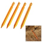 Camping Aluminum Alloy Ground Spike Tent Stake Nails - Golden (4PCS)