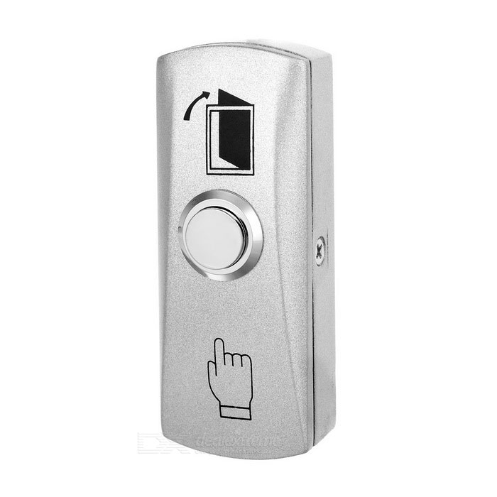 Mini Hollow Door Security Stainless Steel Push Button Switch - Silver