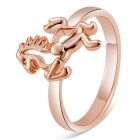 Xinguang Creative Horse Design Alloy Ring for Women - Rose Gold (US Size: 8)
