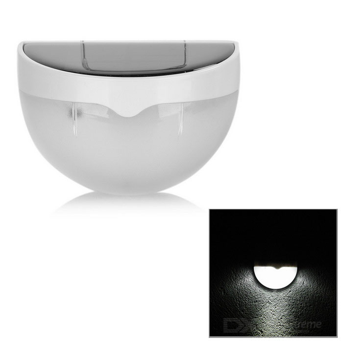 0.36W Solar Powered Light Control 6-LED Cold White Wall Light - White